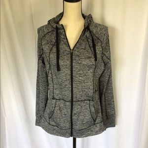 Champion gray zip up hoodie